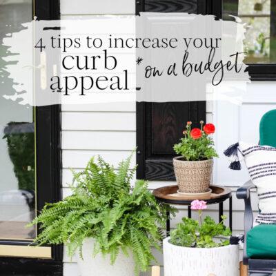 Budget friendly curb appeal ideas