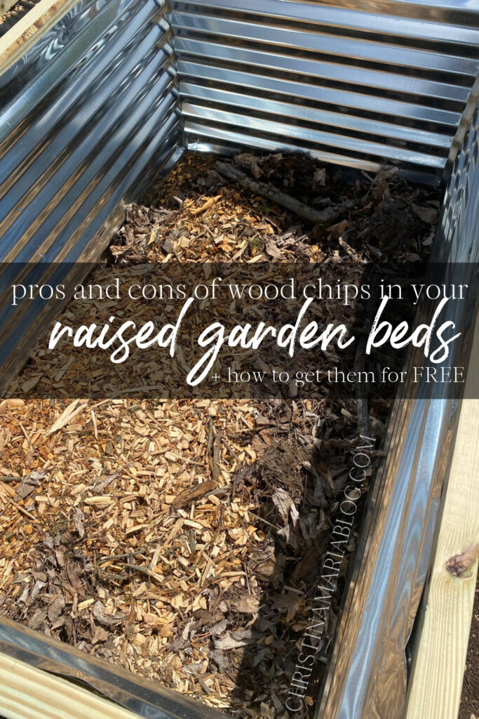 wood chips to fill raised garden beds