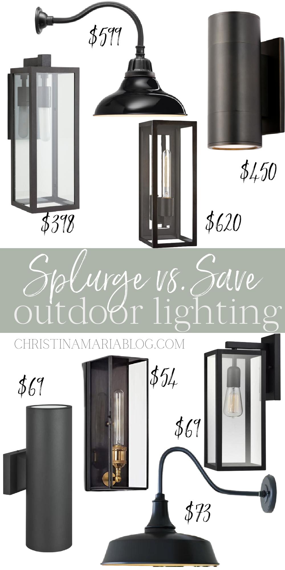 splurge vs save outdoor lighting