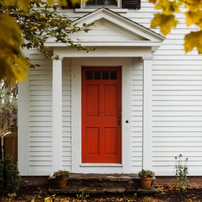 Red front door design ideas + inspiration