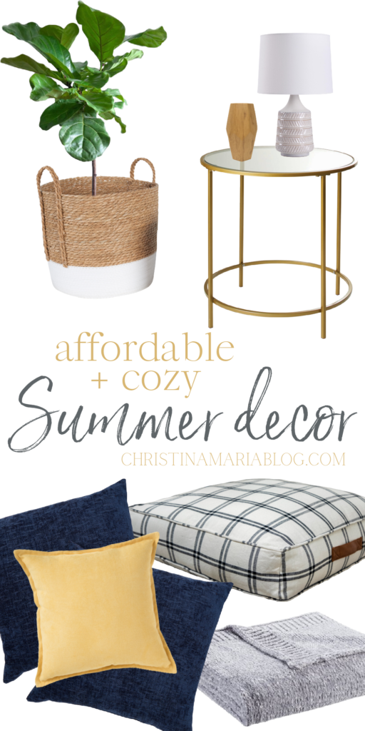affordable cozy summer decorating ideas