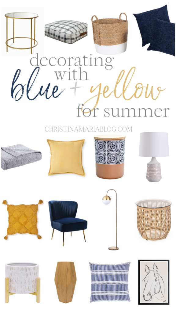 blue and yellow summer decorating ideas