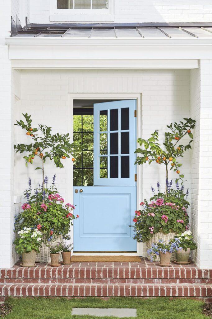 Behr greek isles blue dutch door