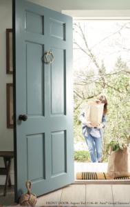 Benjamin Moore Aegean Teal front door color of the year 2021