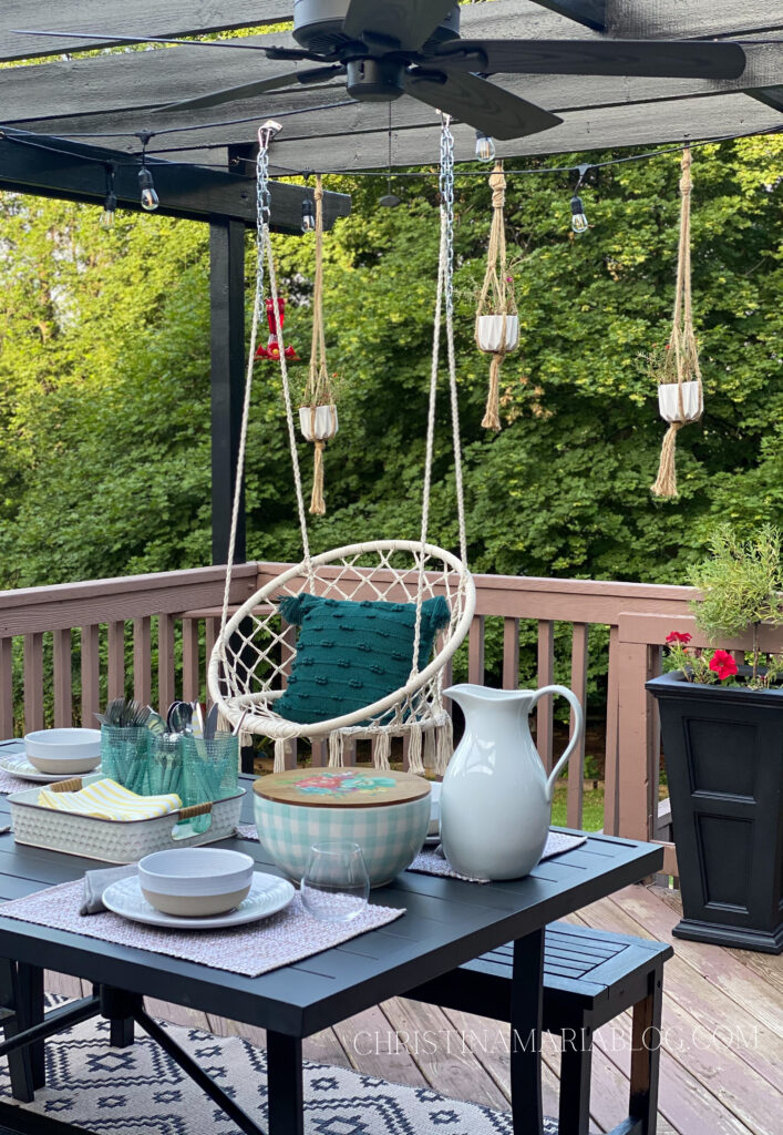 back deck patio table