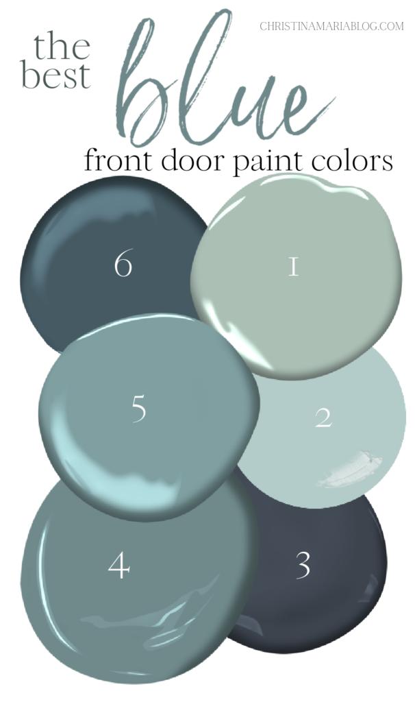 best blue front door paint colors