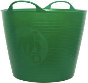 green gardening bucket