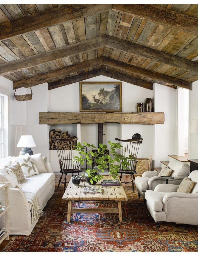 distressed wood ceiling
