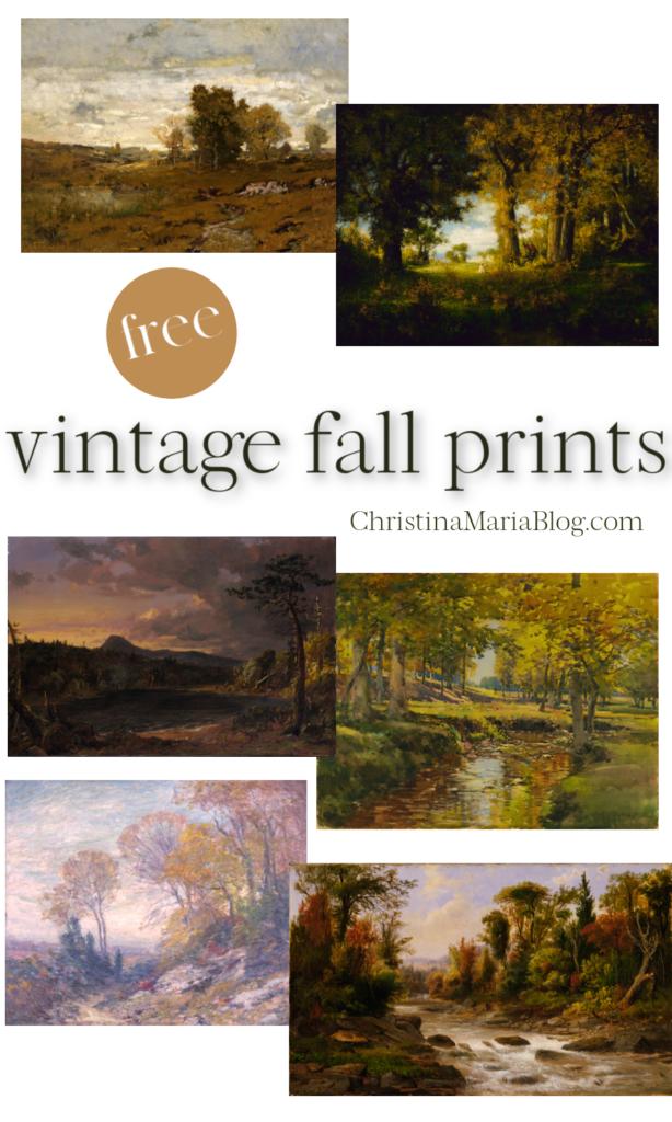free vintage fall prints